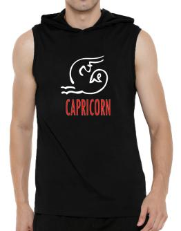 Capricorn - Cartoon Hooded Sleeveless T-Shirt - Mens