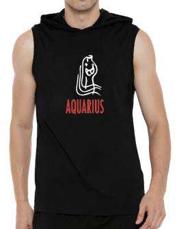 Aquarius - Cartoon Hooded Sleeveless T-Shirt - Mens