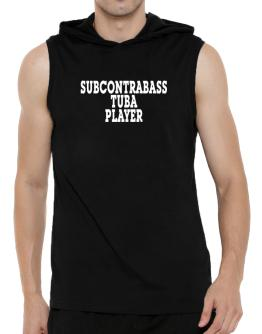 Subcontrabass Tuba Player - Simple Hooded Sleeveless T-Shirt - Mens