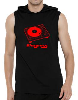 Retro Bluegrass - Music Hooded Sleeveless T-Shirt - Mens