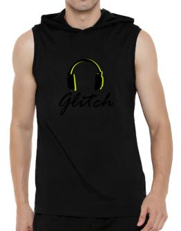 Listen Glitch Hooded Sleeveless T-Shirt - Mens