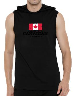 Property of Canadian Nation Hooded Sleeveless T-Shirt - Mens
