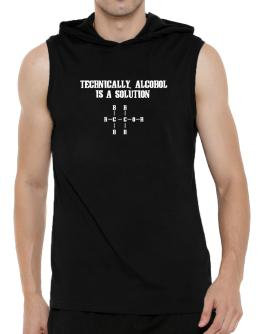 Alcohol is a solution Hooded Sleeveless T-Shirt - Mens