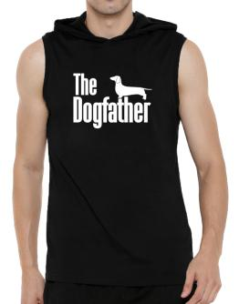 The dogfather Dachshund Hooded Sleeveless T-Shirt - Mens