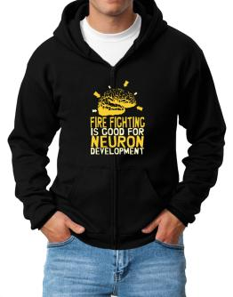 Fire Fighting Is Good For Neuron Development Zip Hoodie - Mens