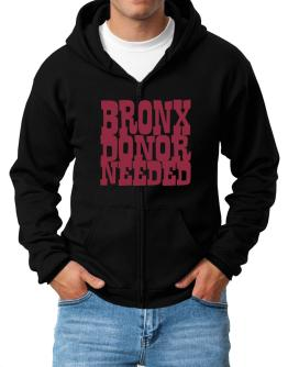 Bronx Donor Needed Zip Hoodie - Mens