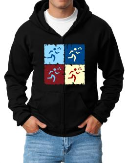 Triathlon - Pop Art Zip Hoodie - Mens