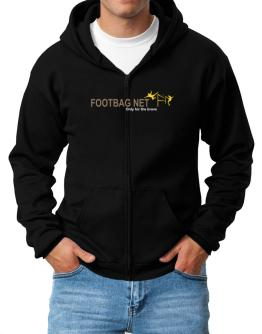 """"""" Footbag Net - Only for the brave """" Zip Hoodie - Mens"""