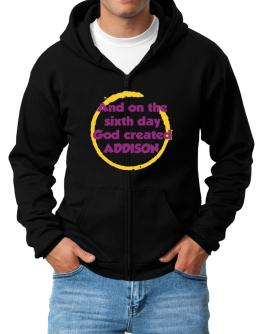 And On The Sixth Day God Created Addison Zip Hoodie - Mens
