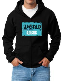 The World Revolves Around Aubrianna Zip Hoodie - Mens