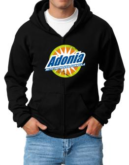 Adonia - With Improved Formula Zip Hoodie - Mens