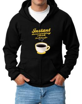 Instant Accounting Clerk, just add coffee Zip Hoodie - Mens
