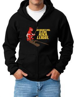 Accounting Clerk Ninja League Zip Hoodie - Mens