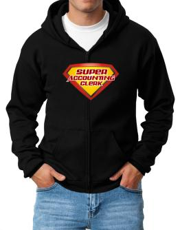 Super Accounting Clerk Zip Hoodie - Mens