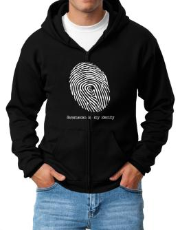 Saramaccan Is My Identity Zip Hoodie - Mens