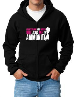 Anything You Want, But Ask Me In Ammonite Zip Hoodie - Mens