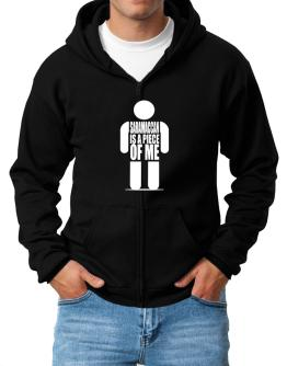 Saramaccan Is A Piece Of Me Zip Hoodie - Mens