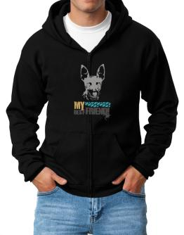 """ Fox Terrier MY BEST FRIEND - URBAN STYLE "" Zip Hoodie - Mens"