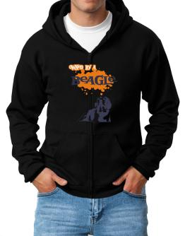 Owned By A Beagle Zip Hoodie - Mens