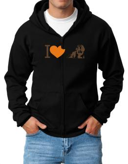 I love Beagles Zip Hoodie - Mens