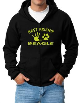 My Best Friend Is My Beagle Zip Hoodie - Mens
