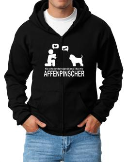 NO ONE UNDERSTANDS ME LIKE MY Affenpinscher Zip Hoodie - Mens