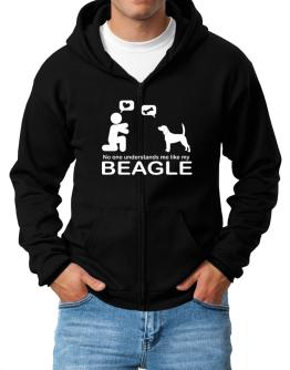No One Understands Me Like My Beagle Zip Hoodie - Mens