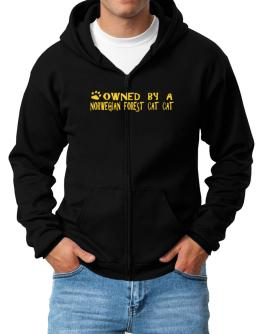 Owned By A Norwegian Forest Cat Zip Hoodie - Mens