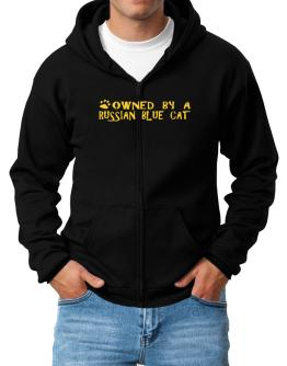 Owned By A Russian Blue Zip Hoodie - Mens