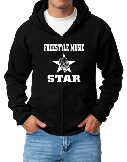 Freestyle Music Star - Microphone Zip Hoodie - Mens