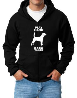 Play Hard Beagle Crash Harder Zip Hoodie - Mens