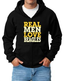 Real Men Love Beagles Zip Hoodie - Mens