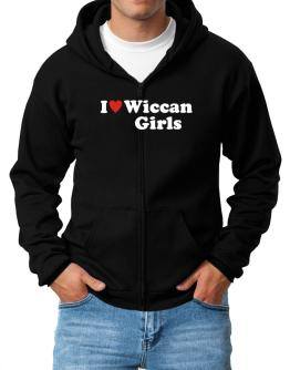 I Love Wiccan Girls Zip Hoodie - Mens