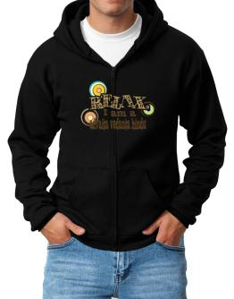 Relax, I Am An Advaita Vedanta Hindu Zip Hoodie - Mens