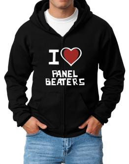 I Love Panel Beaters Zip Hoodie - Mens