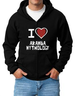 I Love Akamba Mythology Zip Hoodie - Mens