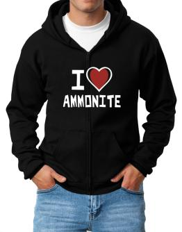 I Love Ammonite Zip Hoodie - Mens