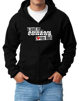 At Least My Andean Condor Loves Me ! Zip Hoodie - Mens