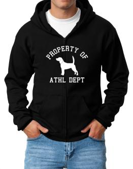 """ PROPERTY OF Beagle "" Zip Hoodie - Mens"