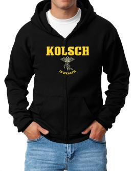 Kolsch Is Health Zip Hoodie - Mens