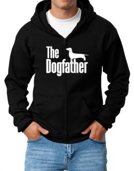The dogfather Dachshund Zip Hoodie - Mens