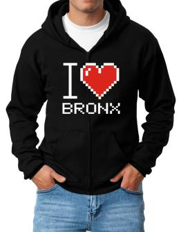 I love Bronx pixelated Zip Hoodie - Mens