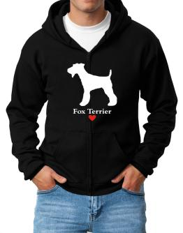 Fox Terrier love Zip Hoodie - Mens