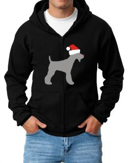 Fox Terrier christmas Zip Hoodie - Mens