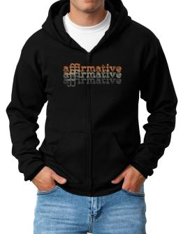 affirmative repeat retro Zip Hoodie - Mens