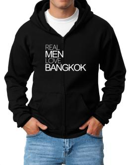 Real men love Bangkok Zip Hoodie - Mens