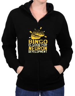 Bingo Is Good For Neuron Development Zip Hoodie - Womens