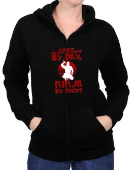 Case Manager By Day, Ninja By Night Zip Hoodie - Womens