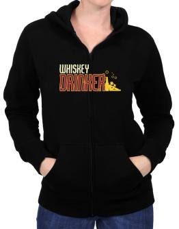 Whiskey Drinker Zip Hoodie - Womens