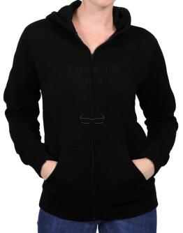 This Is What Accommodating Looks Like Zip Hoodie - Womens